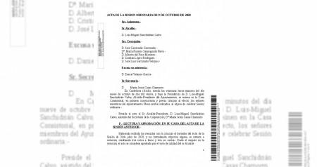 Acta Pleno 9 de octubre de 2020