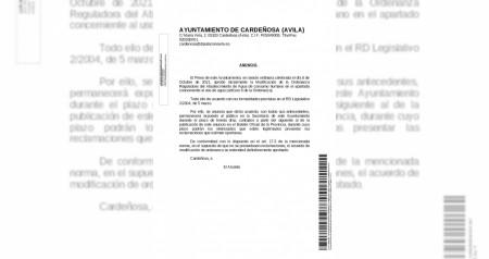 ANUNCIO MODIFICACION ORDENANZA DE AGUA