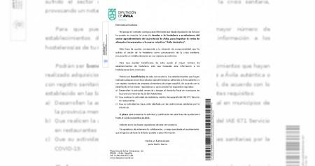 """AYUDAS A LA HOSTELERIA Y PRODUCTORES DEL SECTOR AGROALIMENTARIO DE LA PROVINCIA DE AVILA PARA IMPULSAR LA VENTA DE ALIMENTOS INCORPORADOS A LA MARCA """"AVILA AUTENTICA"""""""