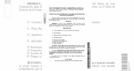Convocatoria Pleno 9 abril 2021